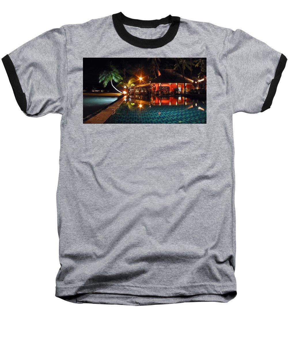 3scape Baseball T-Shirt featuring the photograph Koh Samui Beach Resort by Adam Romanowicz