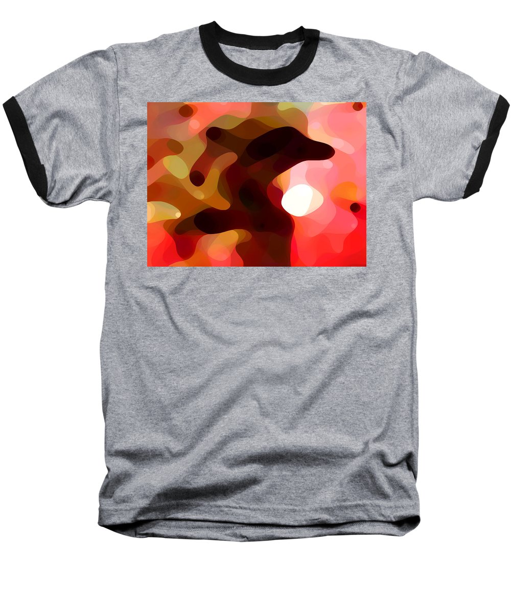 Bold Baseball T-Shirt featuring the painting Las Tunas by Amy Vangsgard