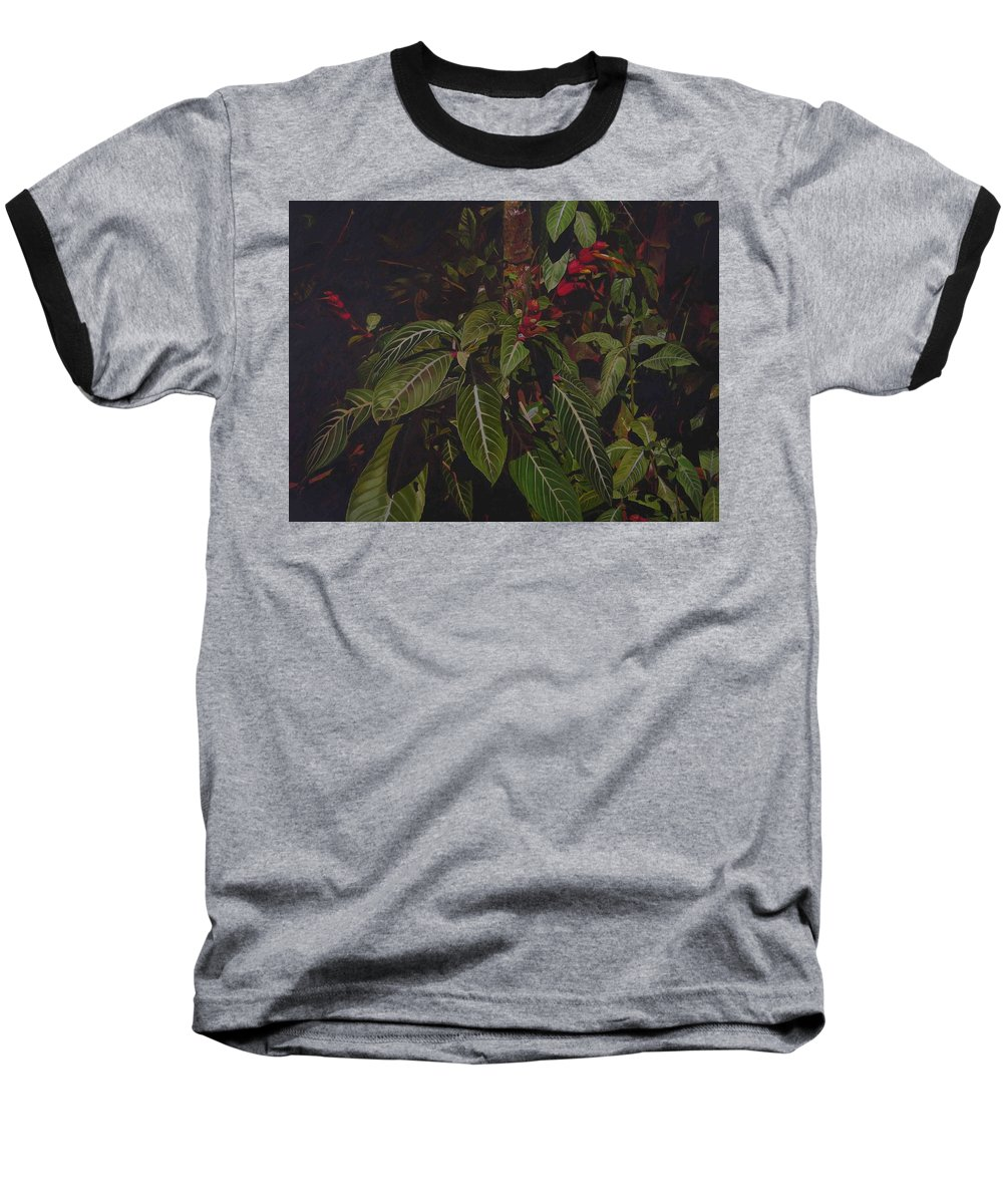 Leaves Baseball T-Shirt featuring the painting Leaving Monroe by Thu Nguyen