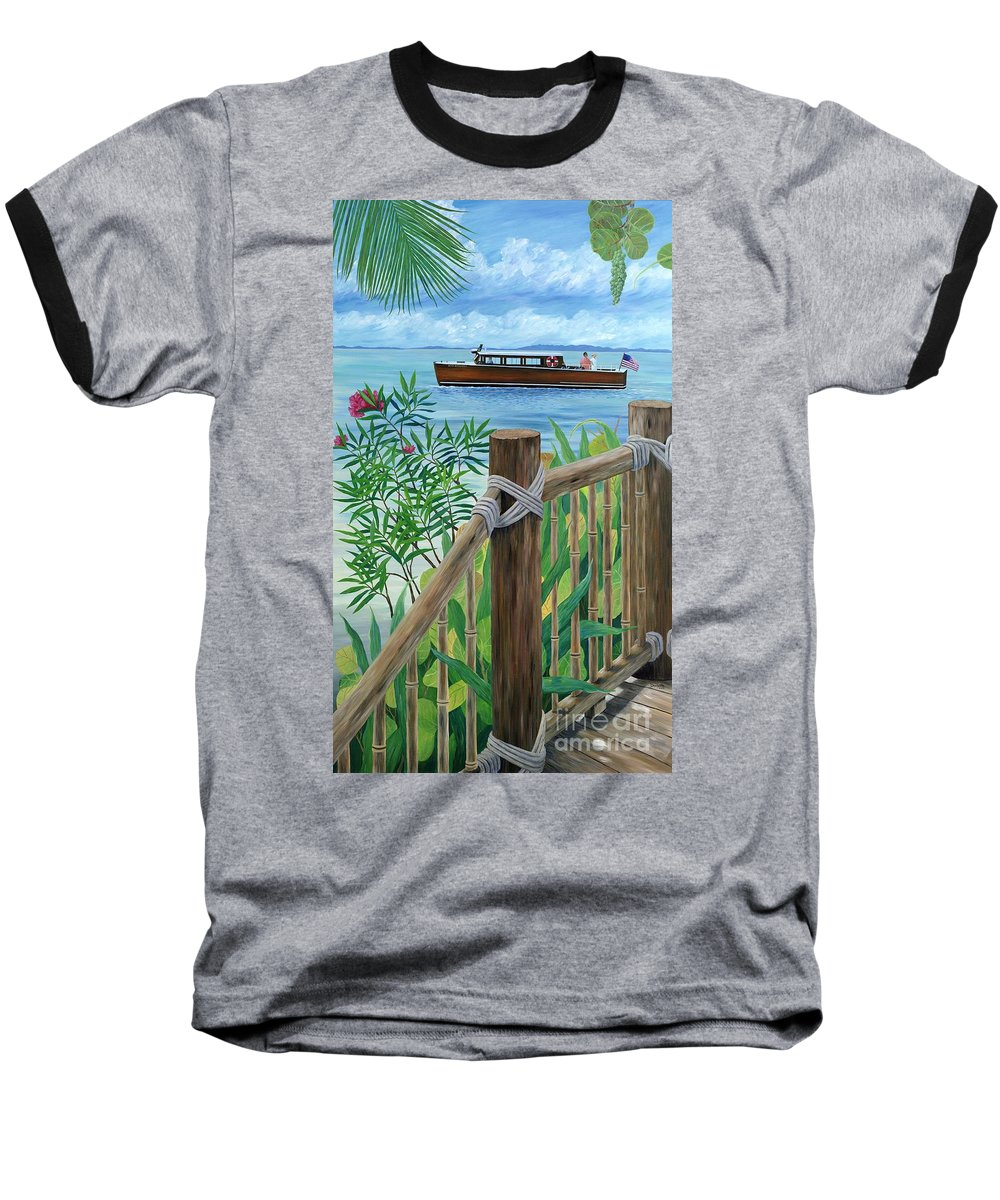 Island Baseball T-Shirt featuring the painting Little Palm Island by Danielle Perry