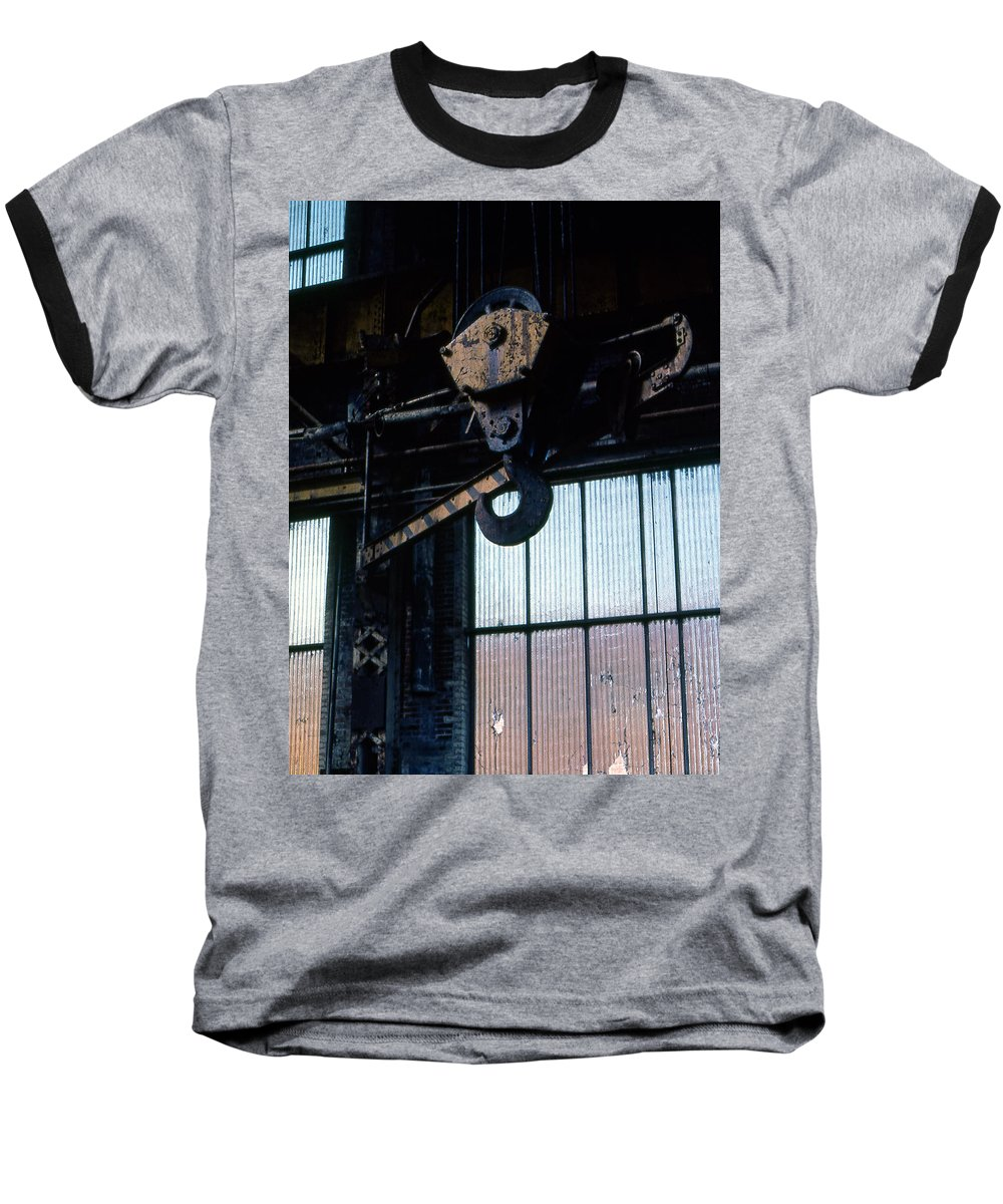 Hooks Baseball T-Shirt featuring the photograph Locomotive Hook by Richard Rizzo