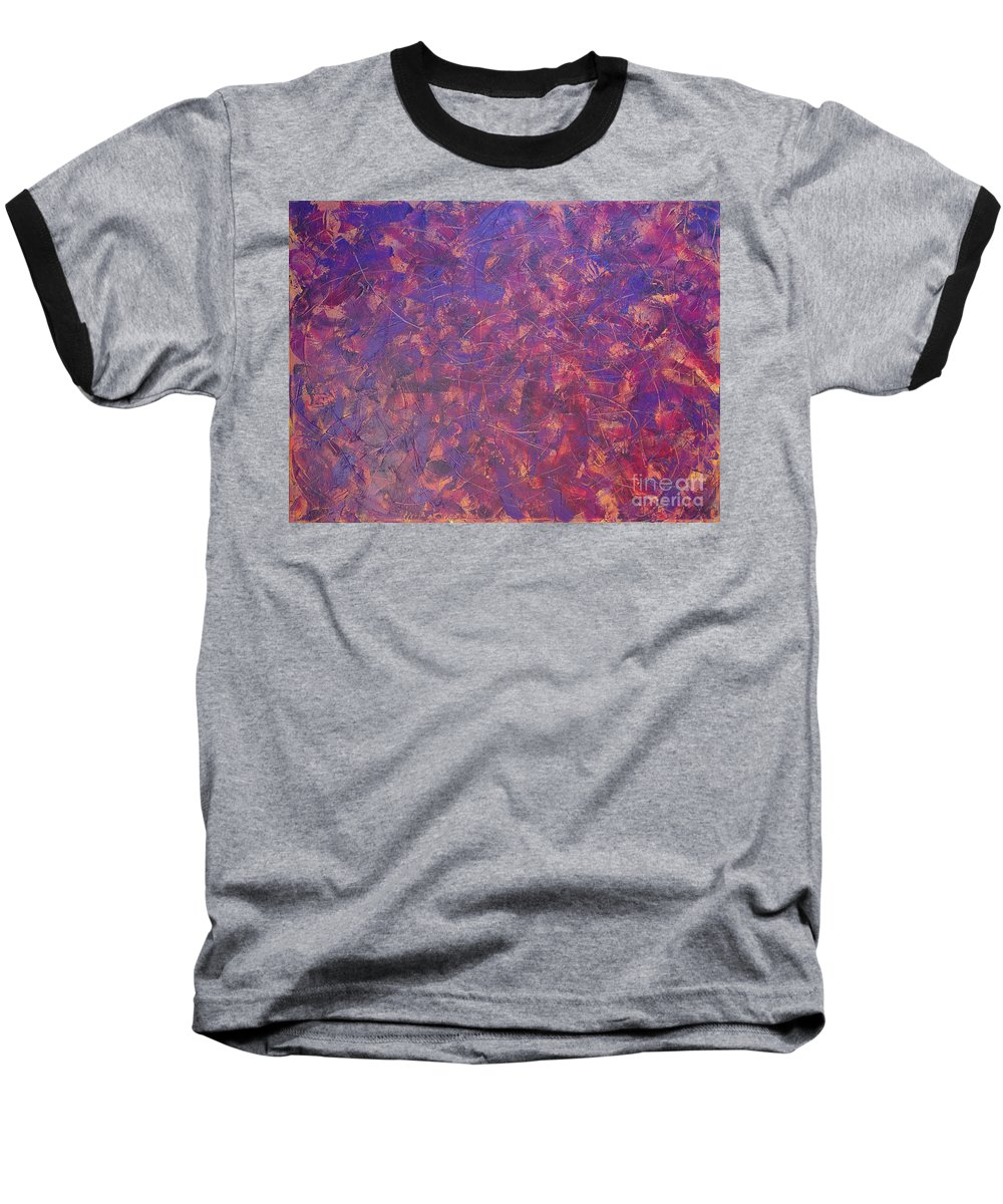 Abstract Baseball T-Shirt featuring the painting Long Beach 5am by Dean Triolo