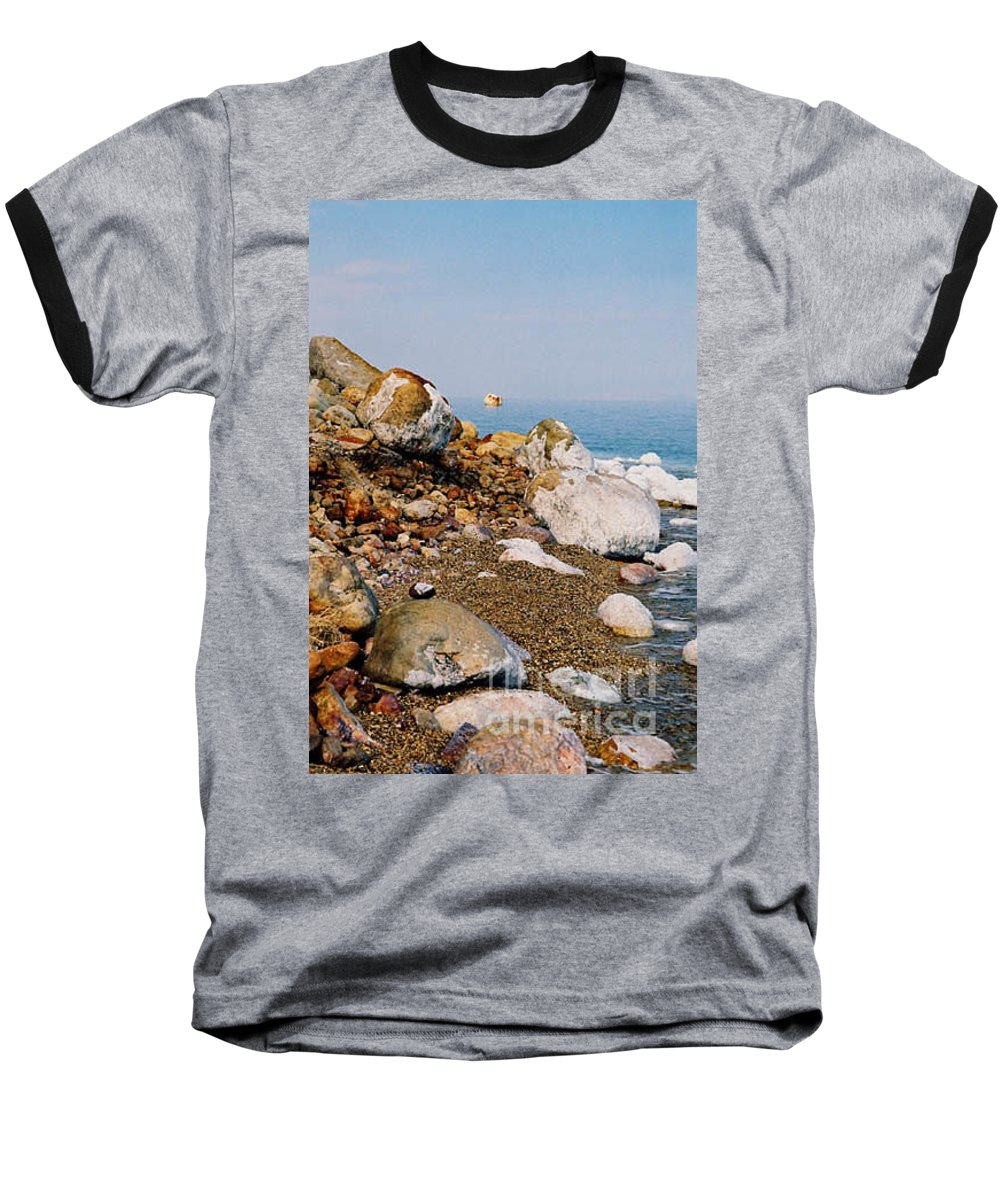 Dead Sea Baseball T-Shirt featuring the photograph Lot's Wife by Kathy McClure