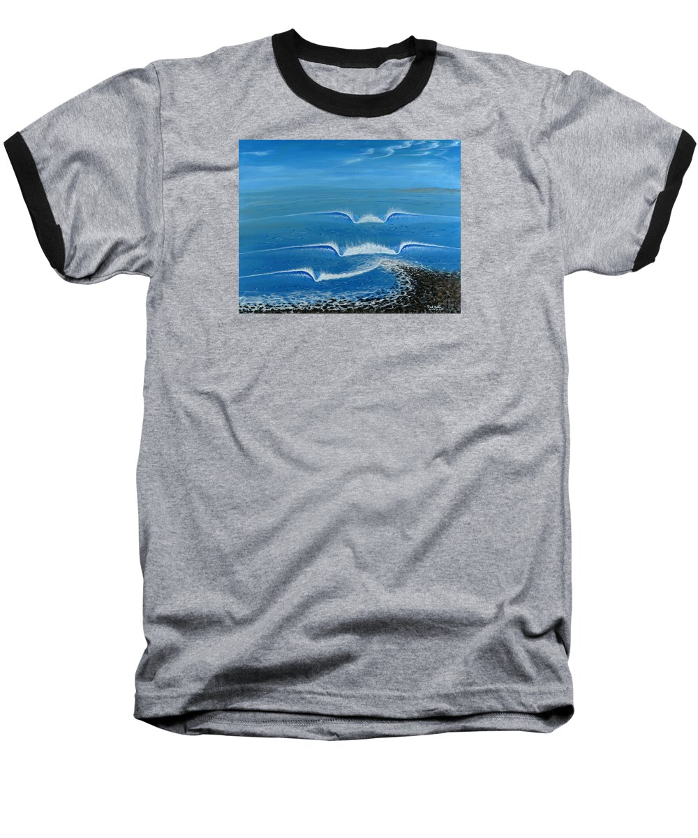 Trestles Framed Prints Baseball T-Shirt featuring the painting Lower Trestles by Paul Carter