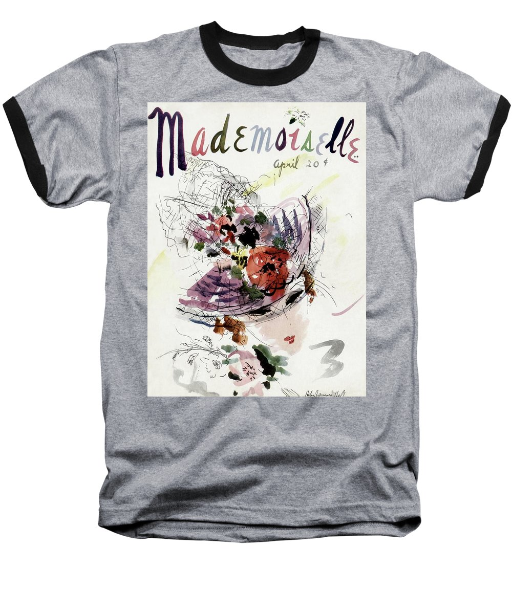 Fashion Baseball T-Shirt featuring the photograph Mademoiselle Cover Featuring An Illustration by Helen Jameson Hall