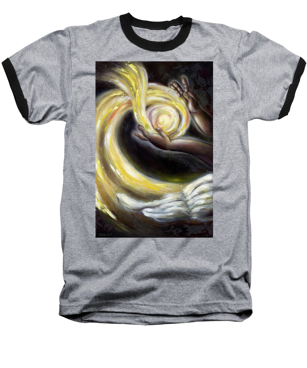 Angel Baseball T-Shirt featuring the painting Magic by Hiroko Sakai