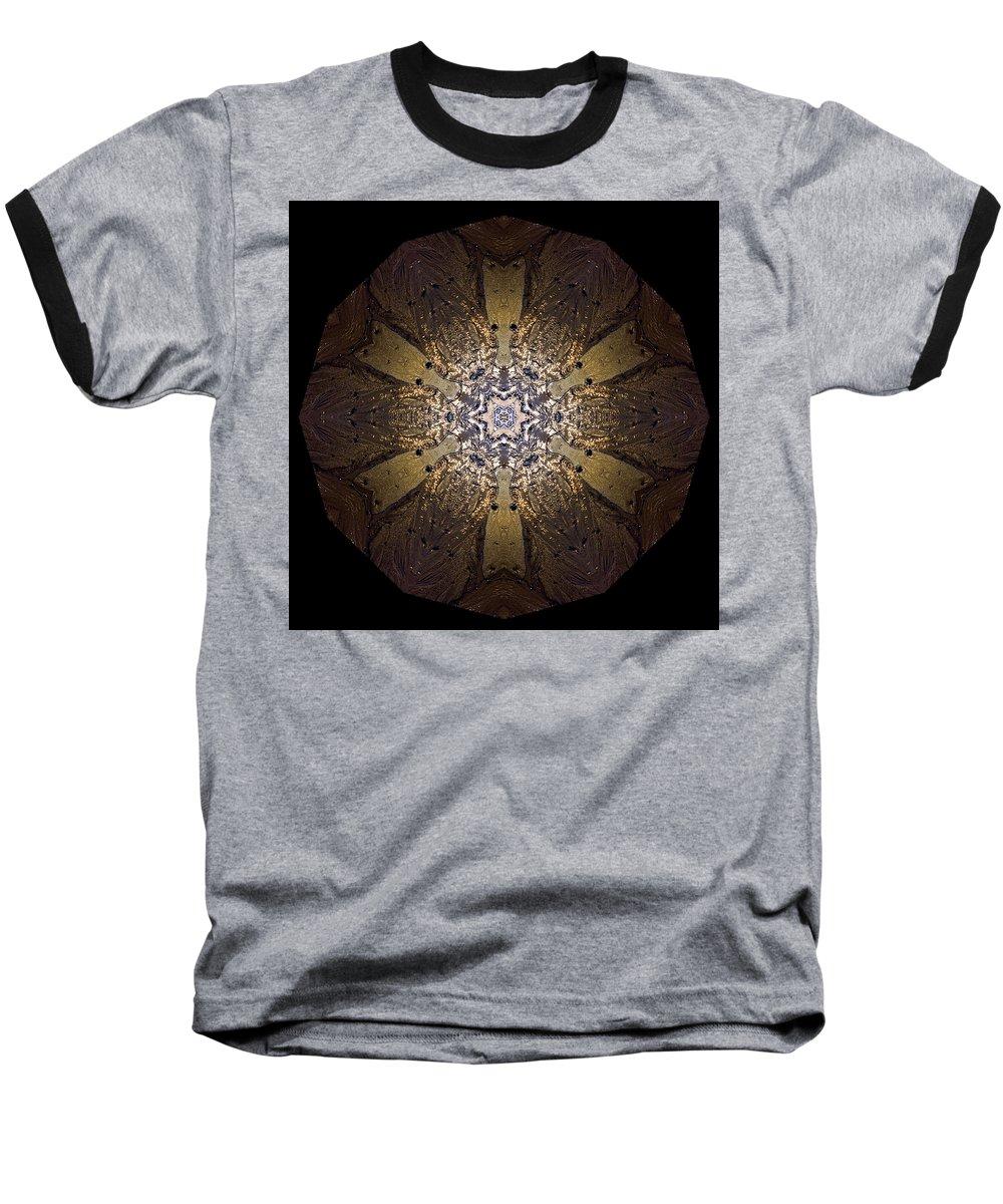Mandala Baseball T-Shirt featuring the photograph Mandala Sand Dollar At Wells by Nancy Griswold