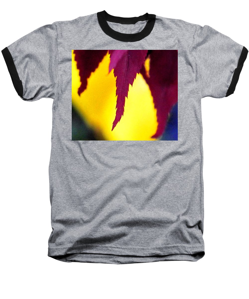 Maroon Baseball T-Shirt featuring the photograph Maroon And Yellow by Ian MacDonald