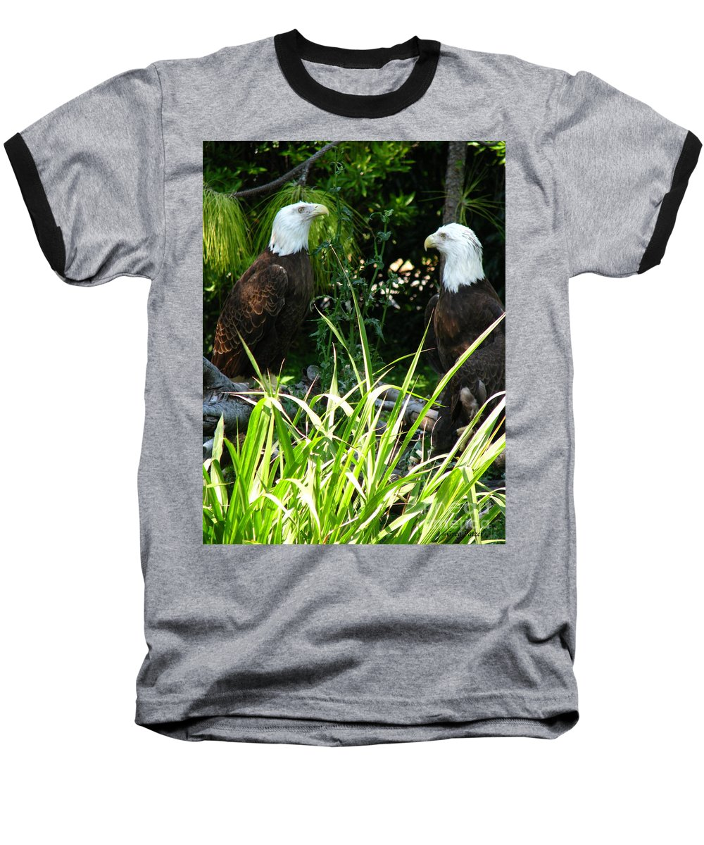 Patzer Baseball T-Shirt featuring the photograph Mates by Greg Patzer