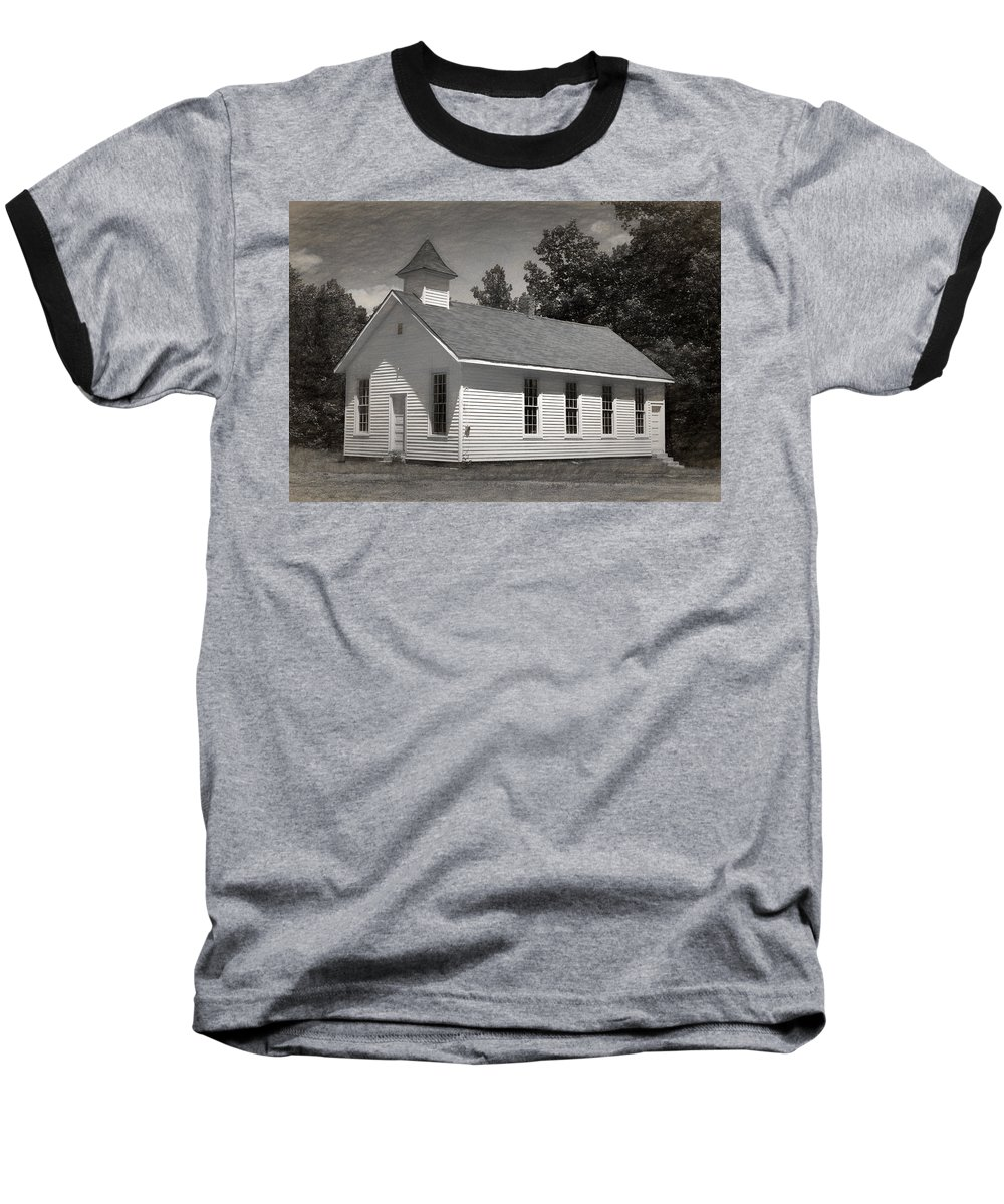 Abandoned Baseball T-Shirt featuring the photograph Meeting House by Richard Rizzo