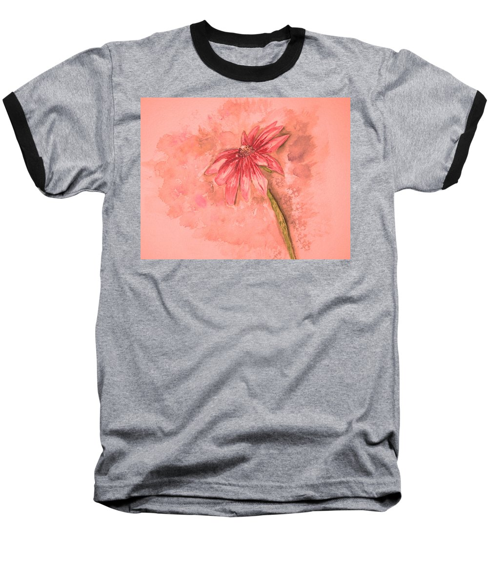 Watercolor Baseball T-Shirt featuring the painting Melancholoy by Crystal Hubbard