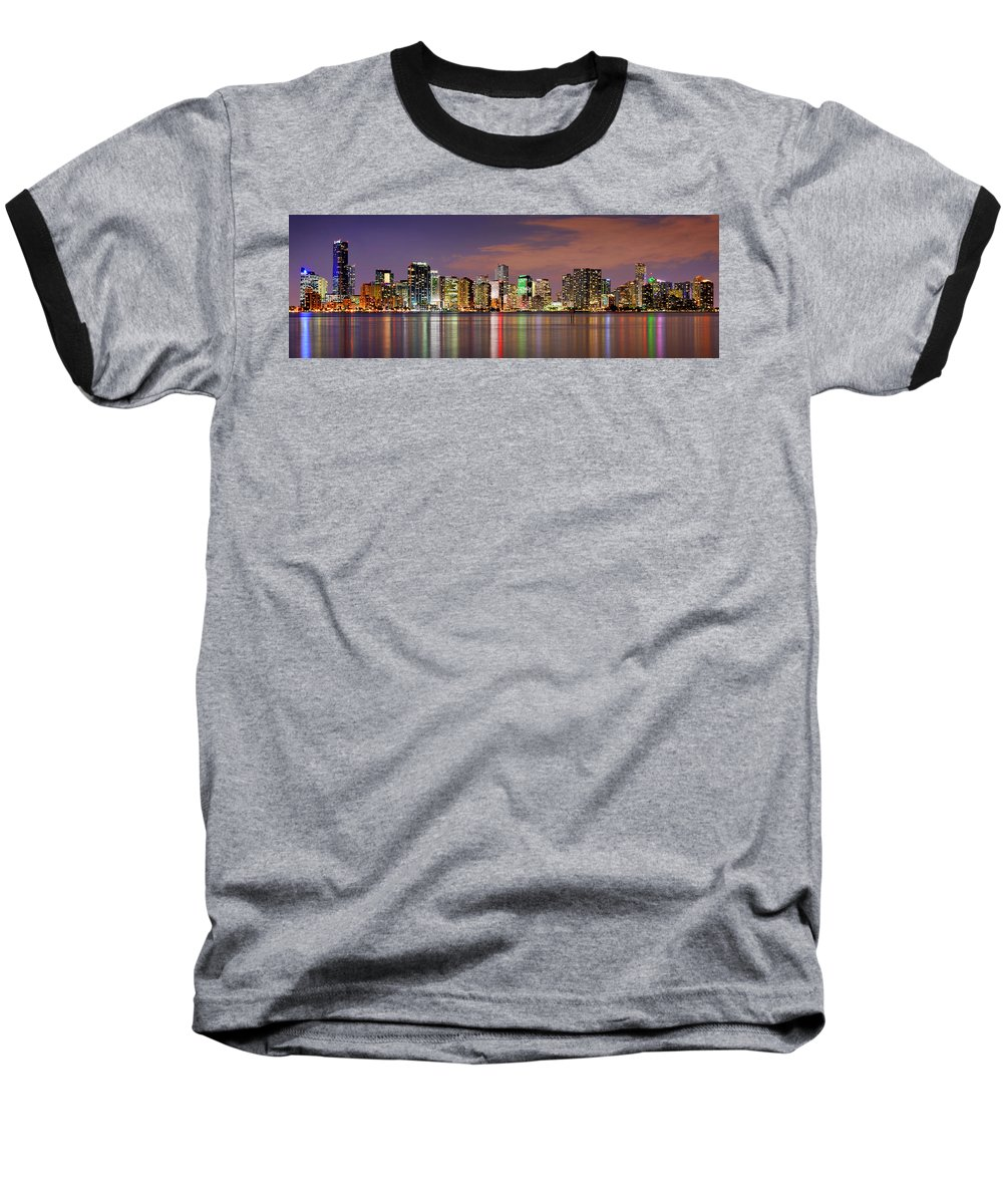 Miami Skyline Baseball T-Shirts