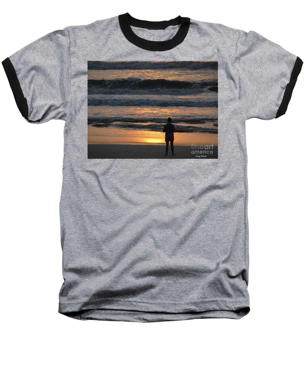 Patzer Baseball T-Shirt featuring the photograph Morning Has Broken by Greg Patzer