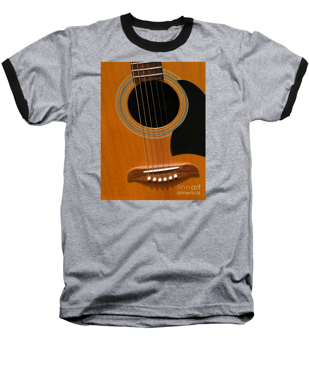 Guitar Baseball T-Shirt featuring the photograph Musical Abstraction by Ann Horn
