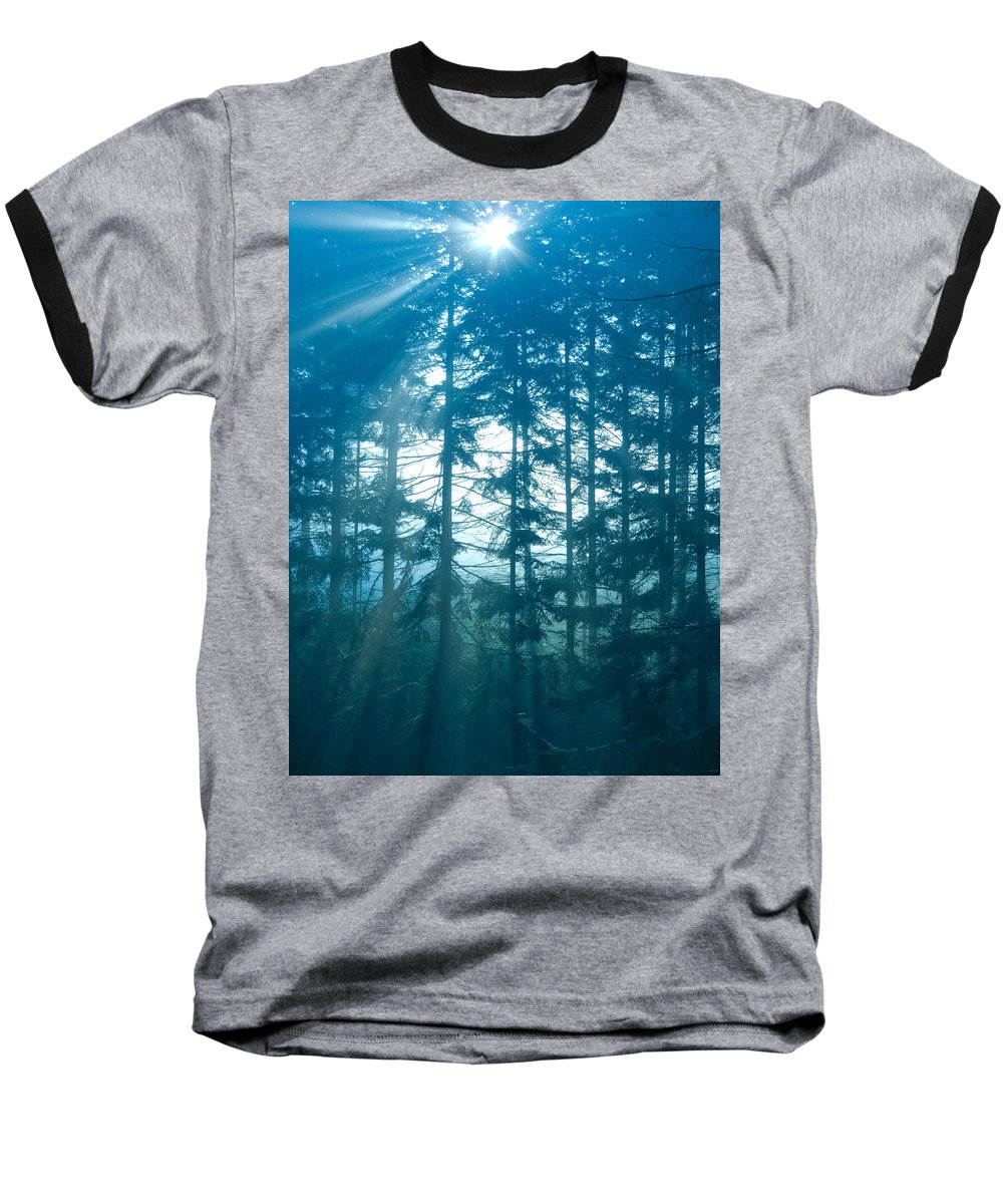 Nature Baseball T-Shirt featuring the photograph Mystic Light by Daniel Csoka
