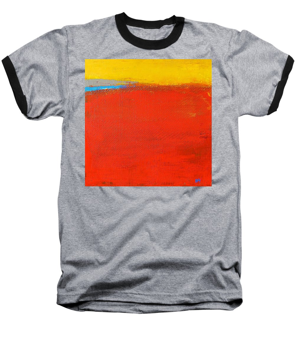 Landscape Baseball T-Shirt featuring the painting Nature Rouge by Habib Ayat