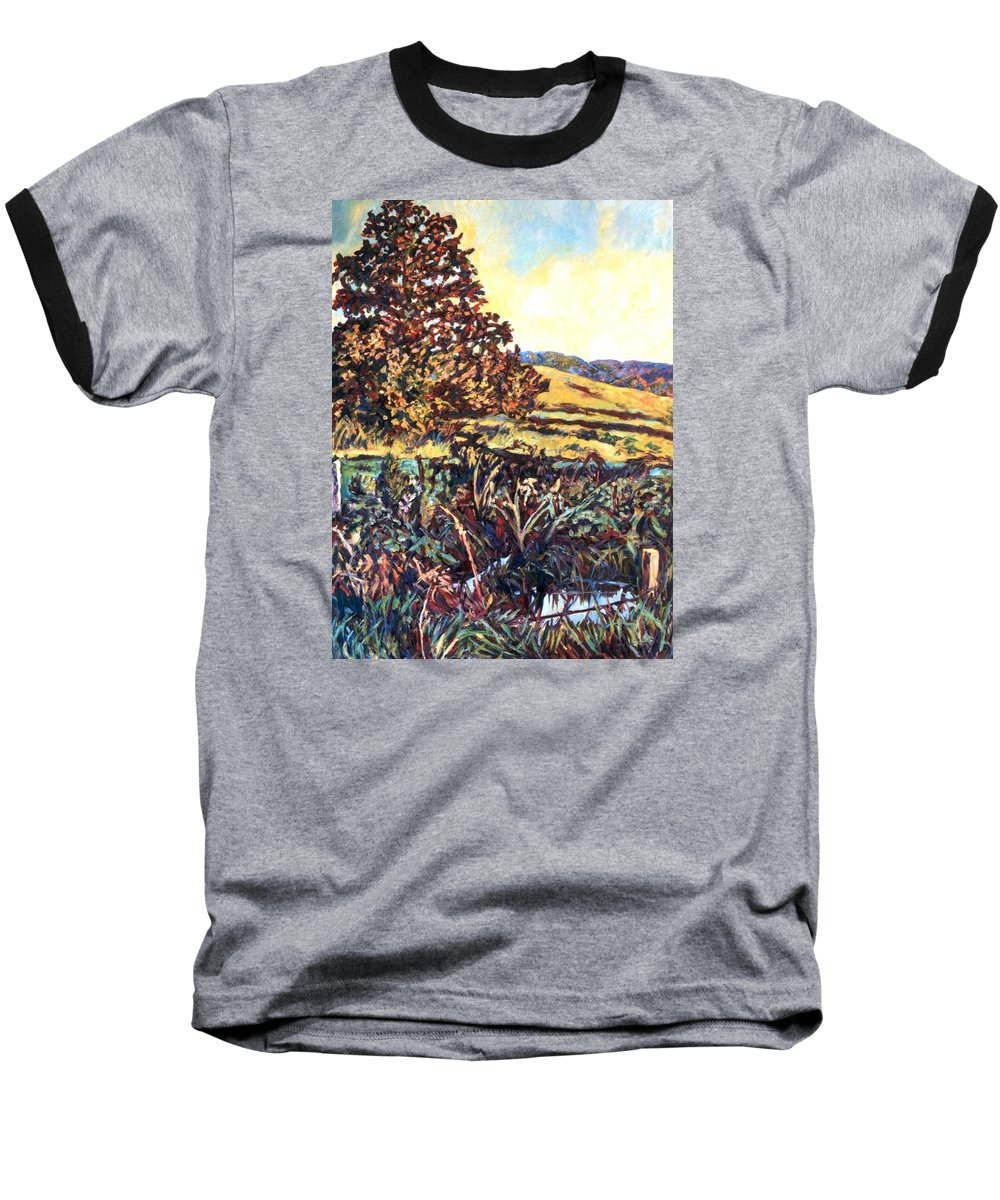 Landscape Baseball T-Shirt featuring the painting Near Childress by Kendall Kessler