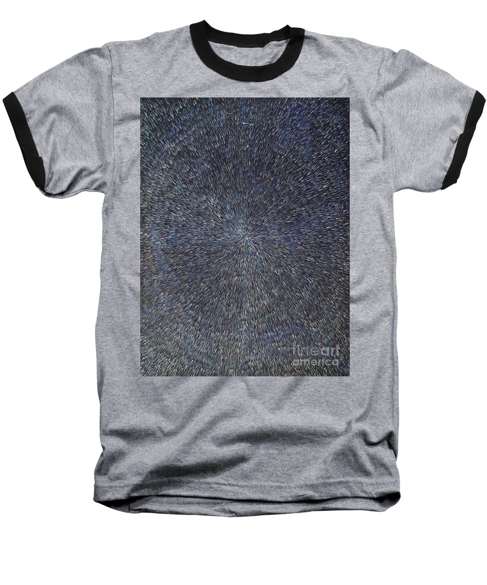 Abstract Baseball T-Shirt featuring the painting Night Radiation by Dean Triolo