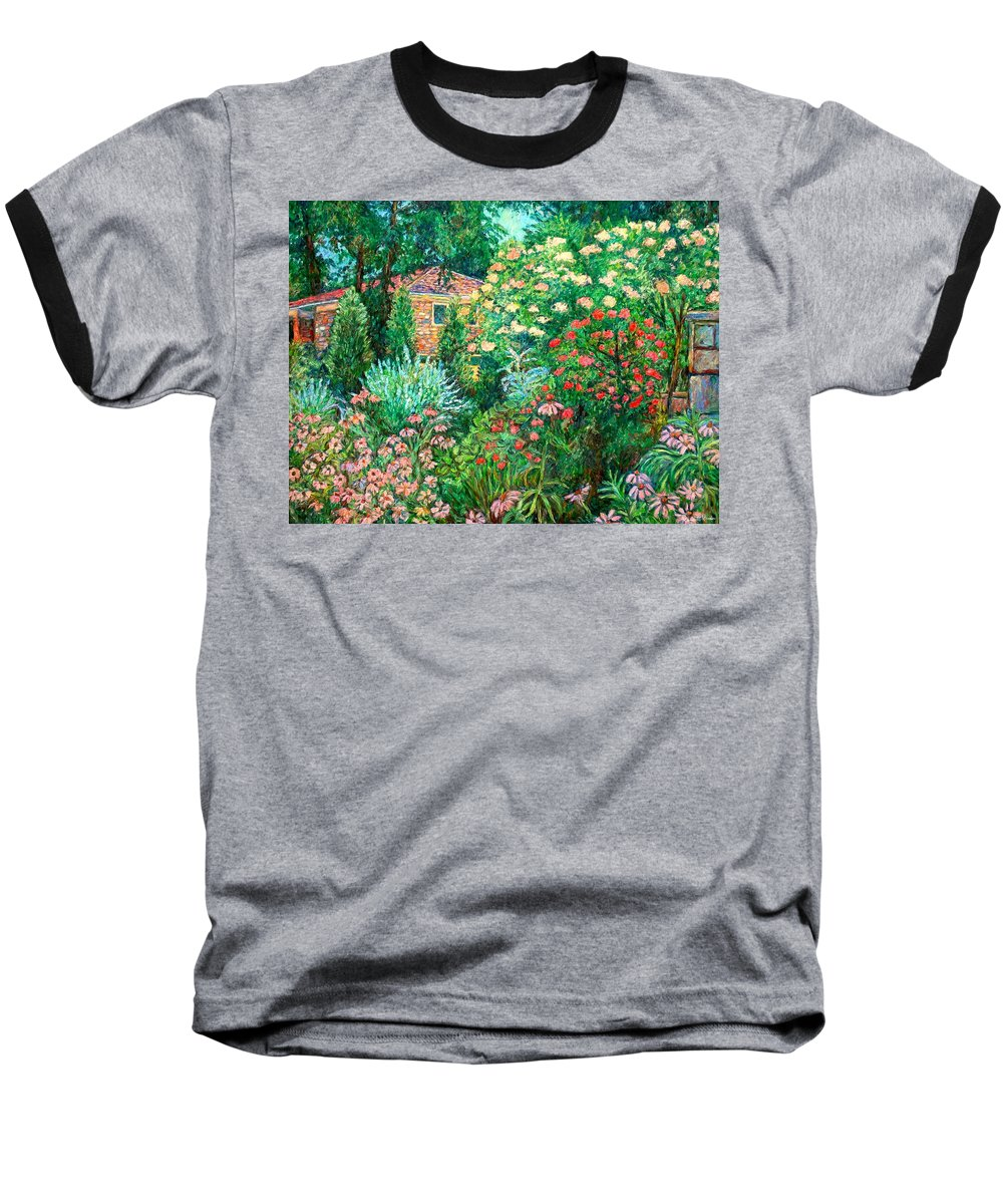 Garden Baseball T-Shirt featuring the painting North Albemarle In Mclean Va by Kendall Kessler