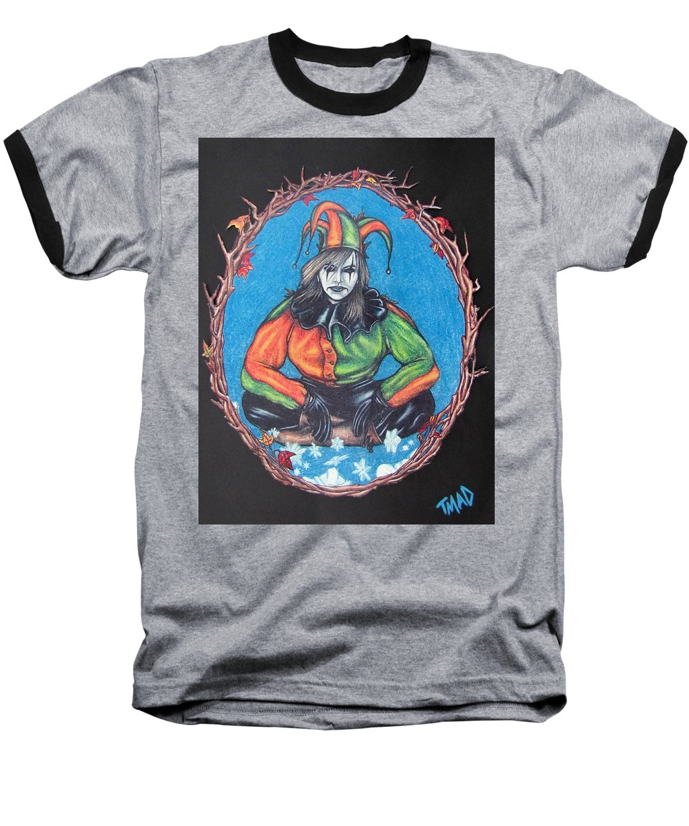 Michael Baseball T-Shirt featuring the drawing November Snow by Michael TMAD Finney