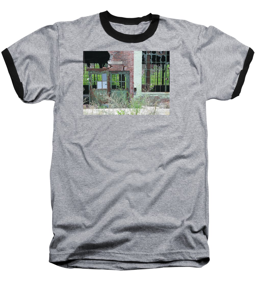 Factory Baseball T-Shirt featuring the photograph Obsolete by Ann Horn