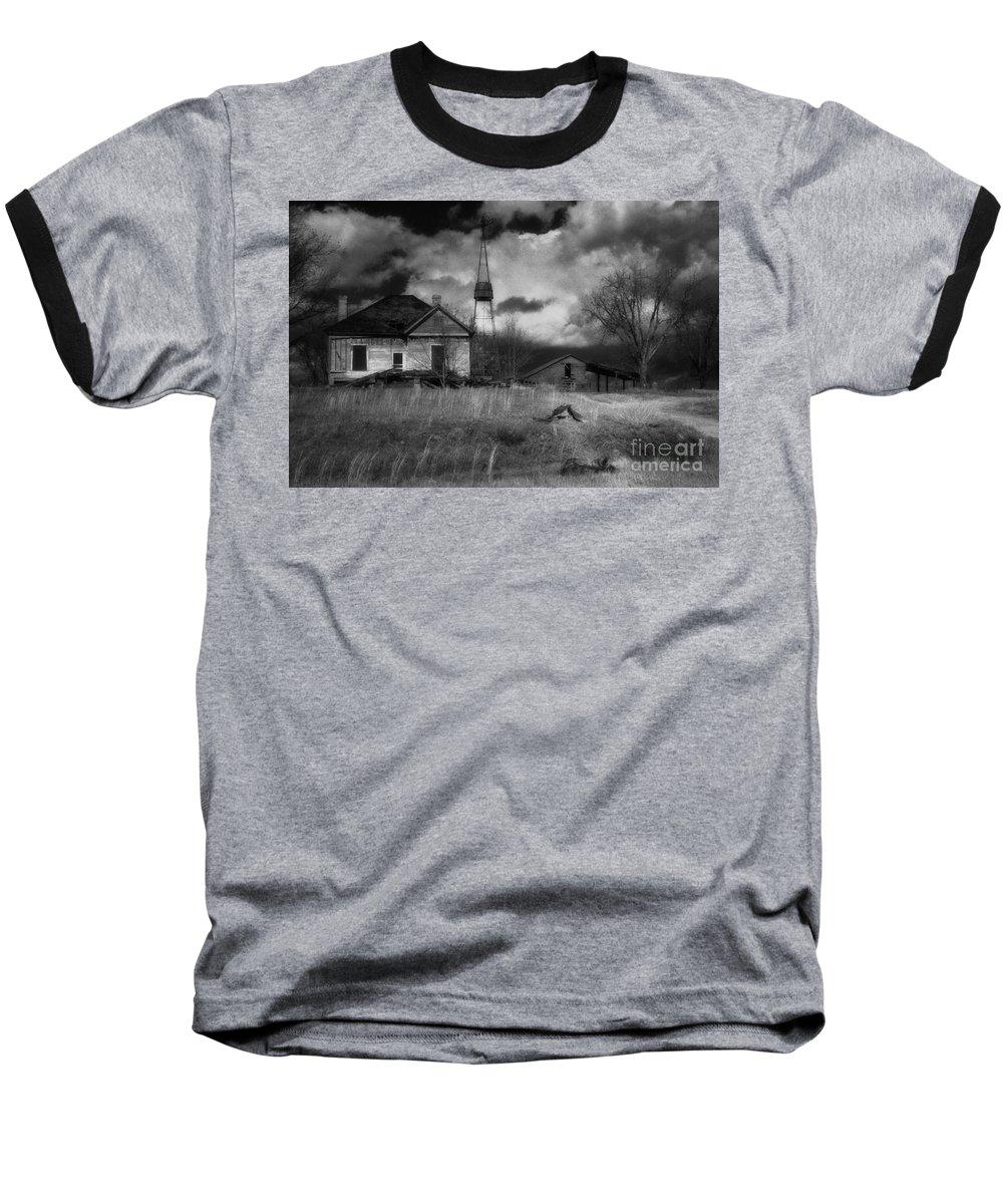 Farms Baseball T-Shirt featuring the photograph Old Georgia Farm by Richard Rizzo