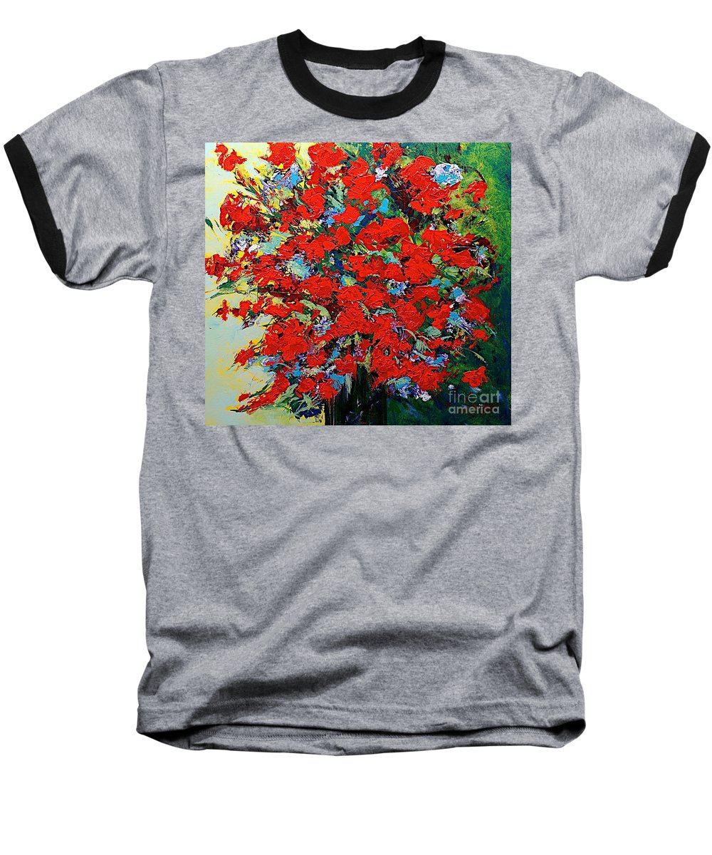 Landscape Baseball T-Shirt featuring the painting One Of A Kind by Allan P Friedlander
