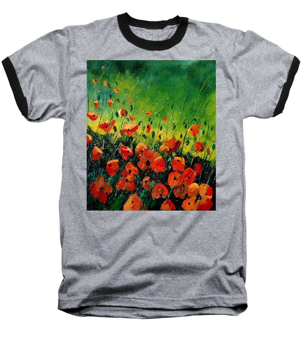 Poppies Baseball T-Shirt featuring the painting Orange Poppies by Pol Ledent