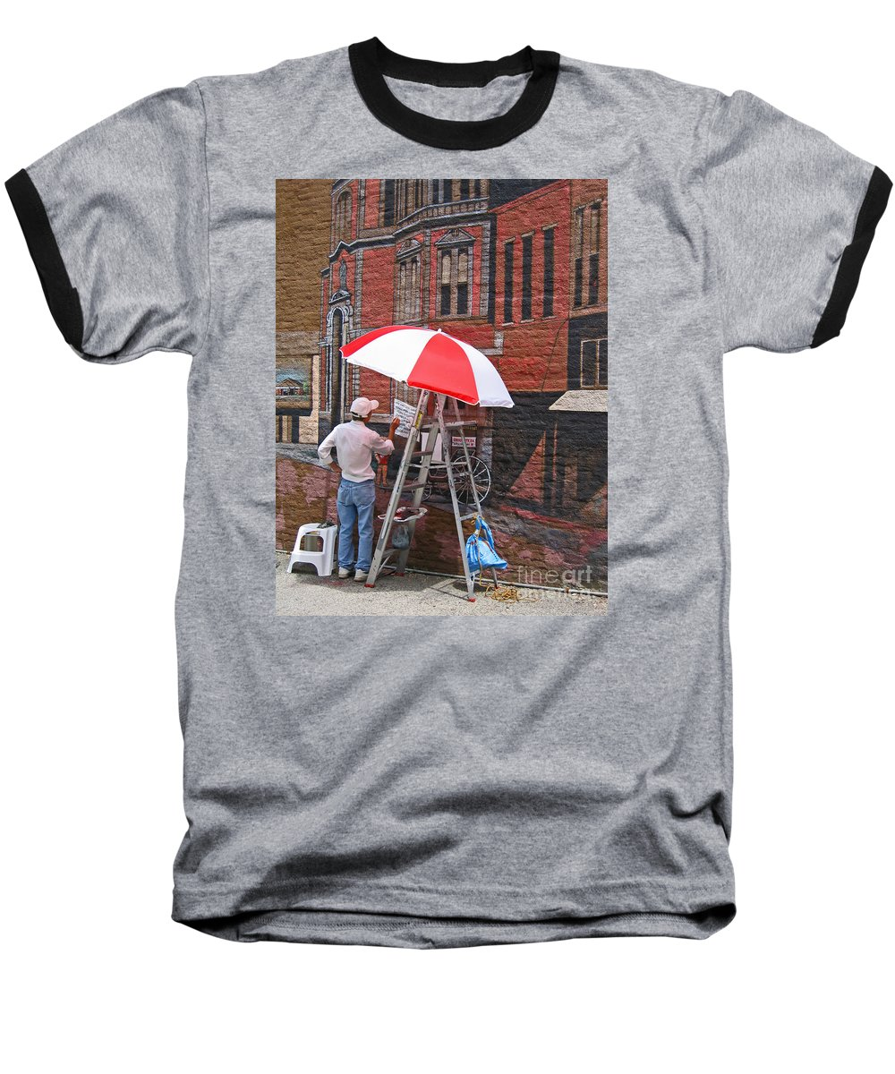 Artist Baseball T-Shirt featuring the photograph Painting The Past by Ann Horn