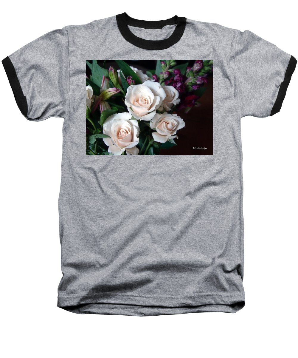 Flowers Baseball T-Shirt featuring the photograph Pardon My Blush by RC deWinter