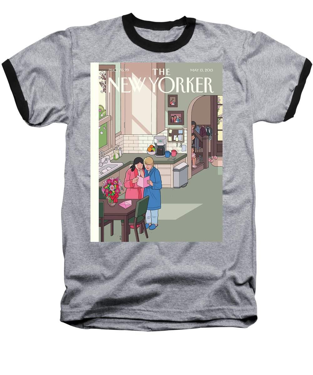 Women Baseball T-Shirt featuring the painting Mothers' Day by Chris Ware