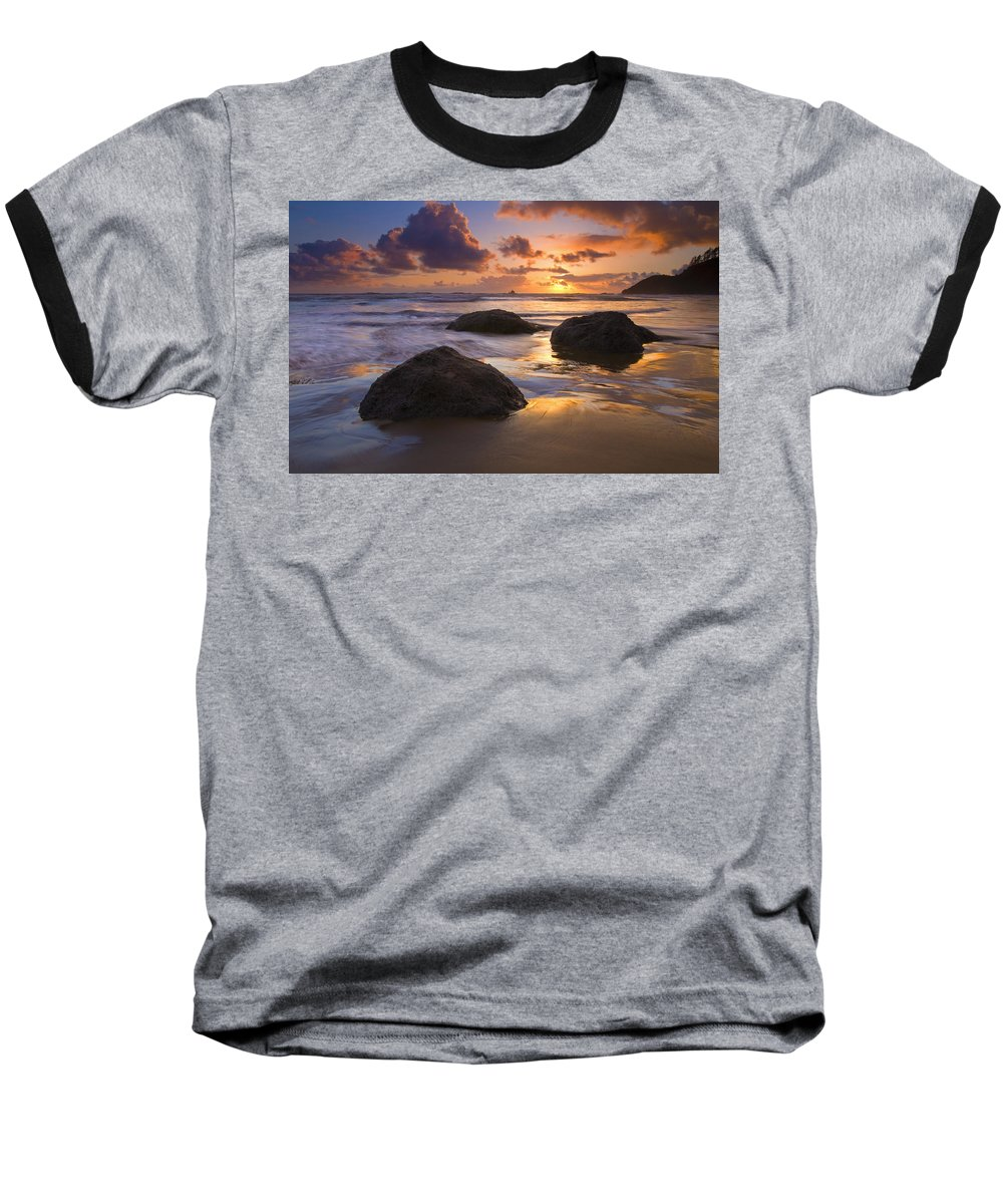 Sunset Baseball T-Shirt featuring the photograph Pieces Of Eight by Mike Dawson