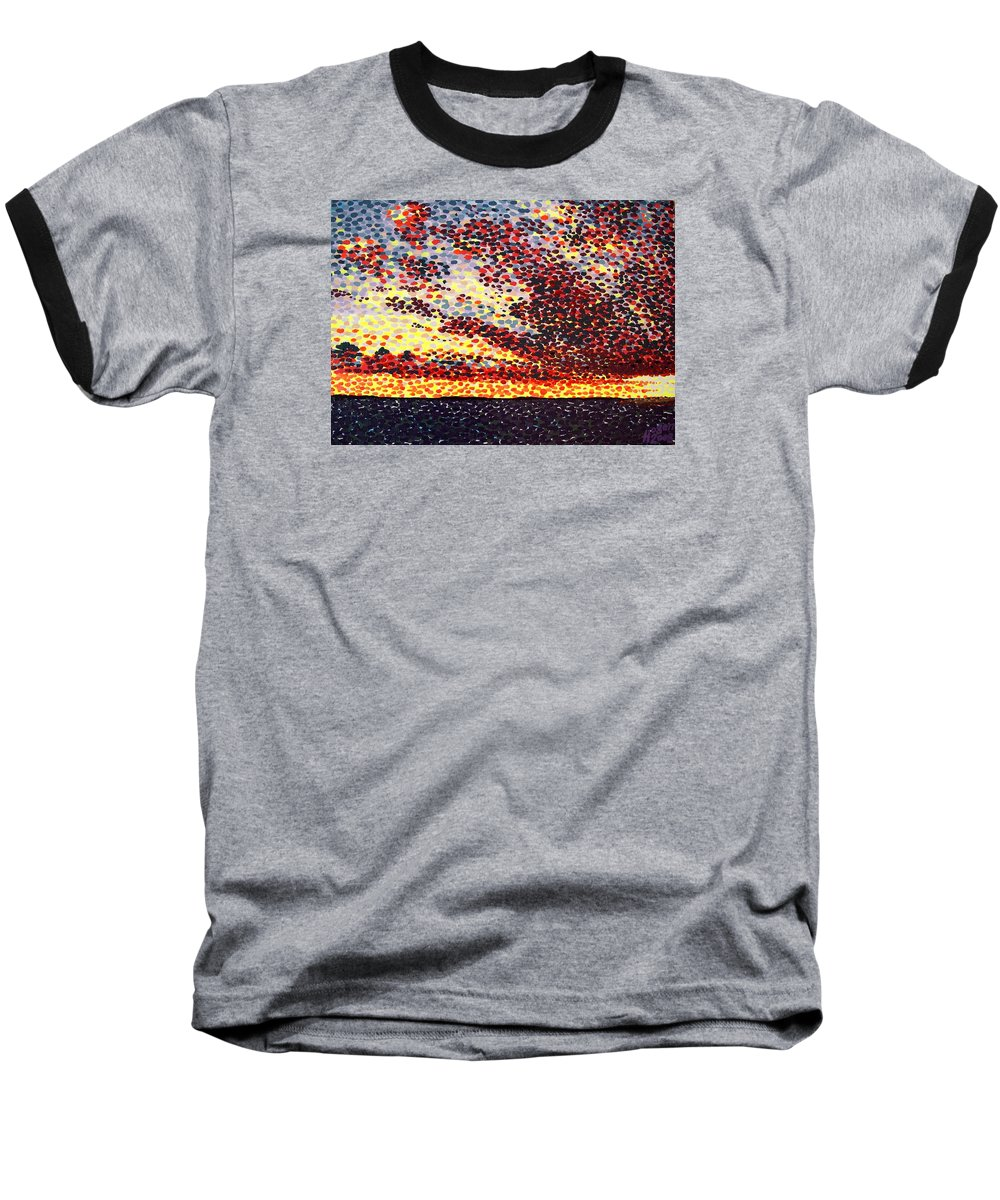 Plum Clouds Baseball T-Shirt featuring the painting Plum Clouds by Alan Hogan