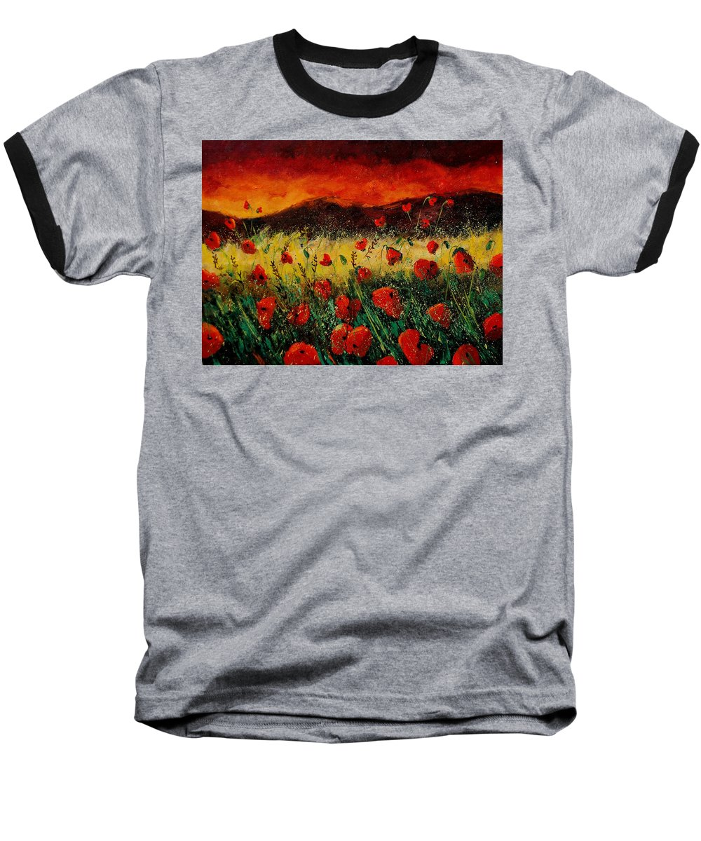 Poppies Baseball T-Shirt featuring the painting Poppies 68 by Pol Ledent