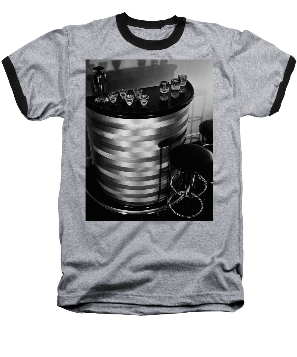 Party Baseball T-Shirt featuring the photograph Portable Bar by Martinus Andersen