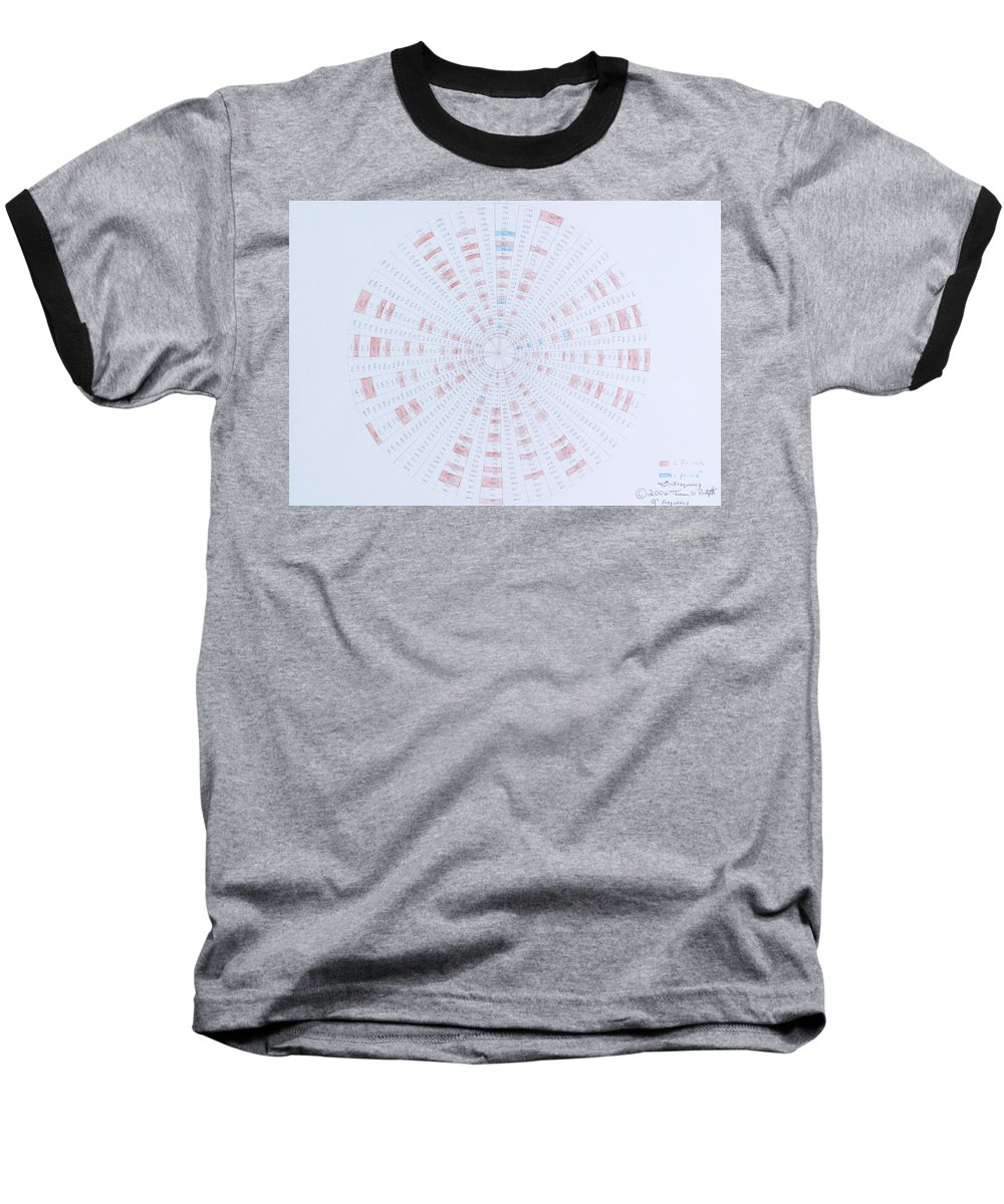 Prime Number Baseball T-Shirt featuring the drawing Prime Number Pattern P Mod 40 by Jason Padgett