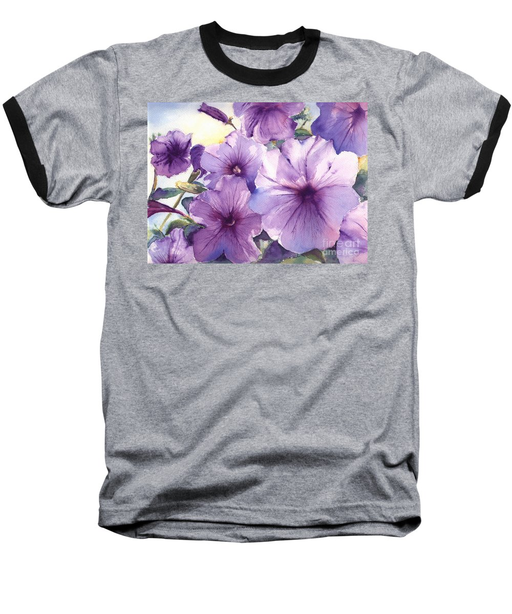 Purple Baseball T-Shirt featuring the painting Purple Profusion by Patricia Henderson