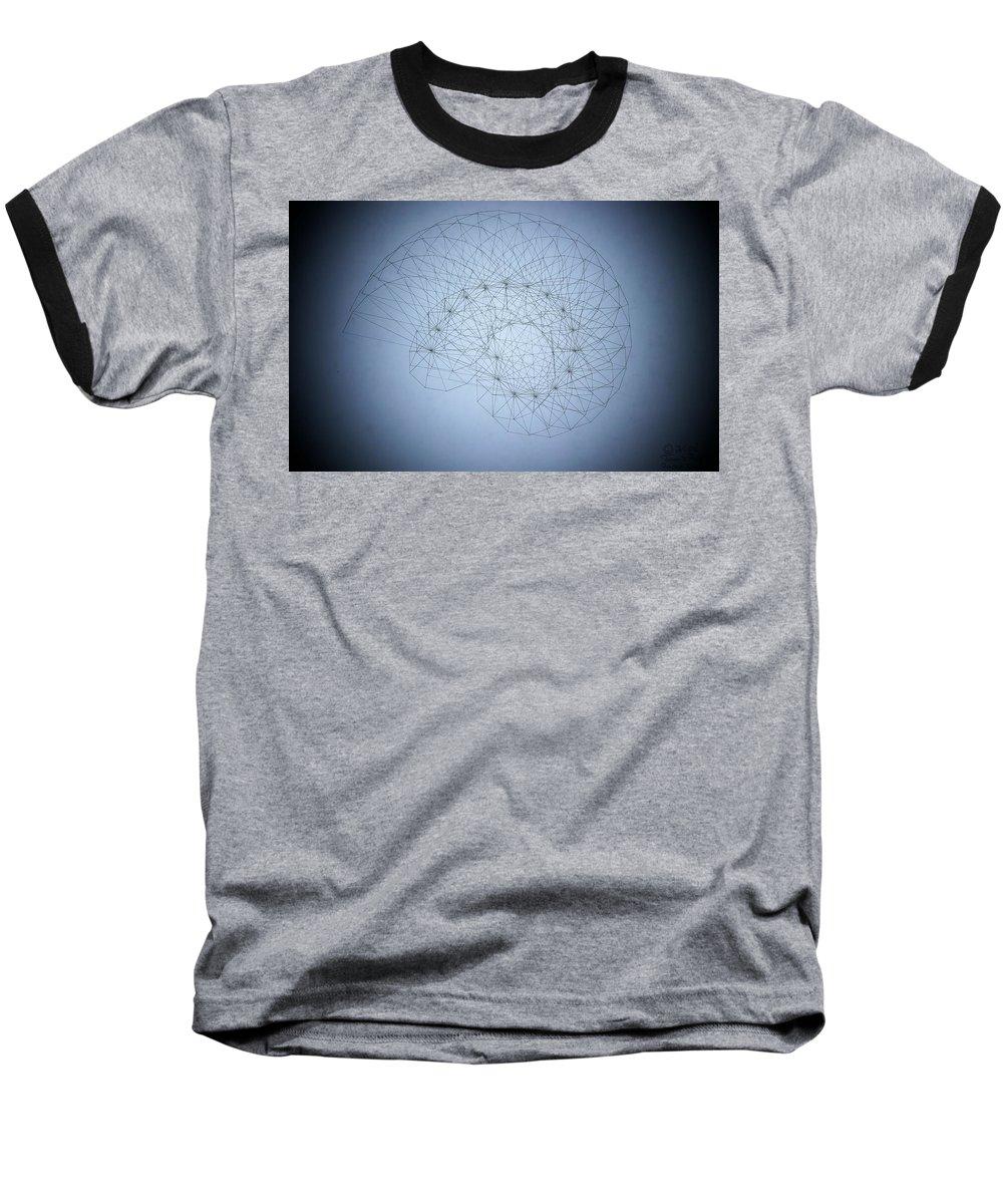 Seashell Baseball T-Shirt featuring the drawing Quantum Nautilus Spotlight by Jason Padgett