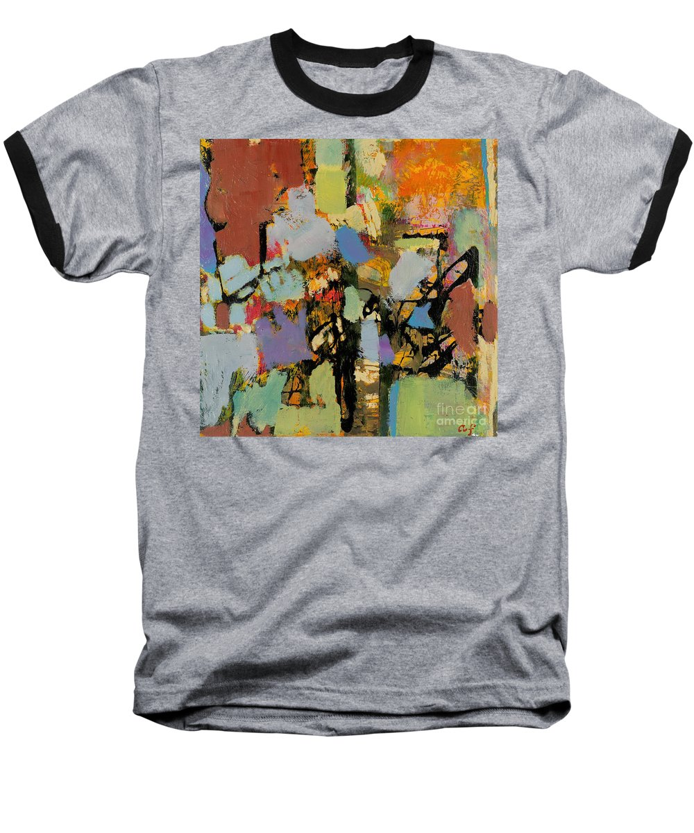 Landscape Baseball T-Shirt featuring the painting Quick Racing by Allan P Friedlander