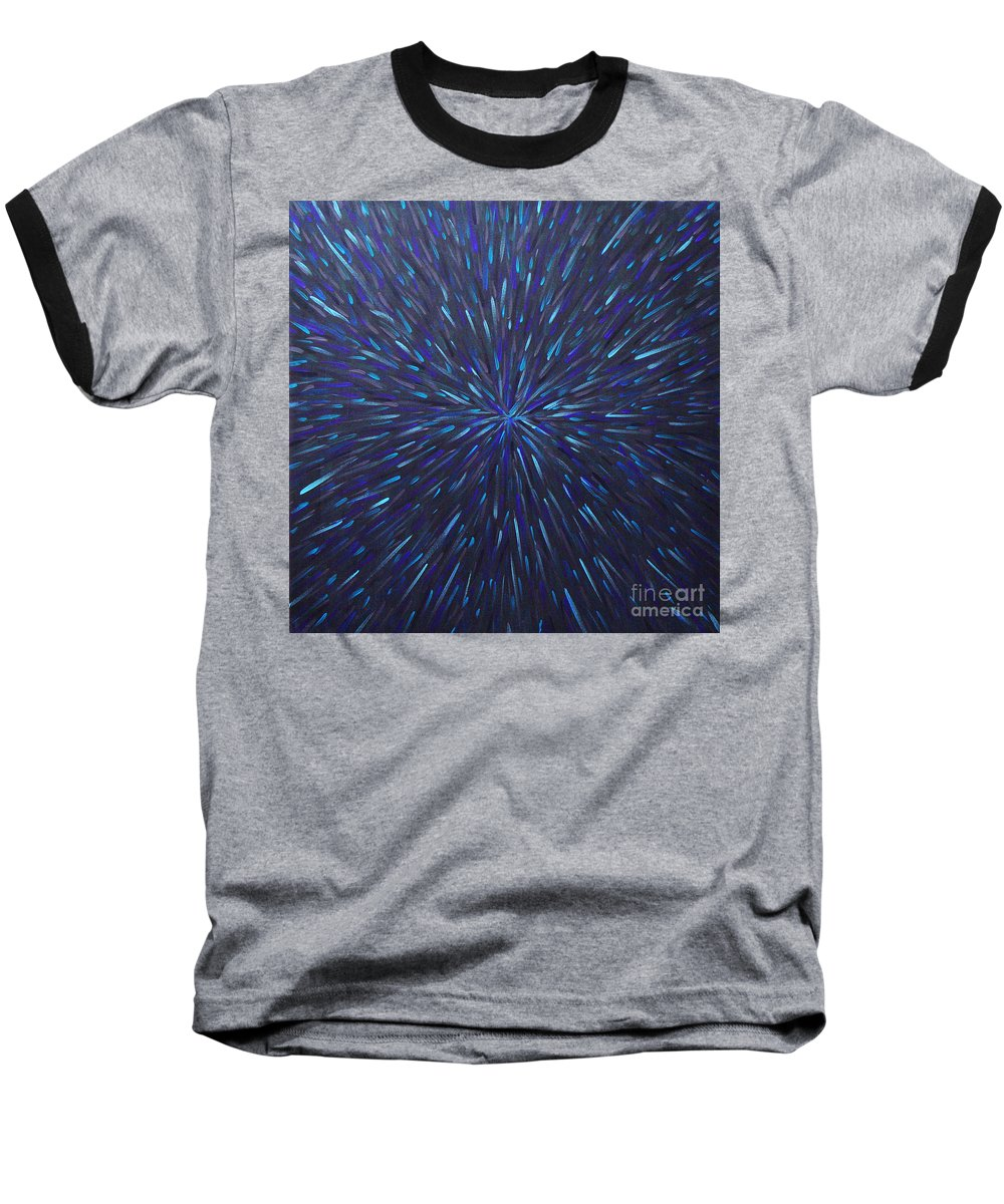 Abstract Baseball T-Shirt featuring the painting Radiation Grey by Dean Triolo