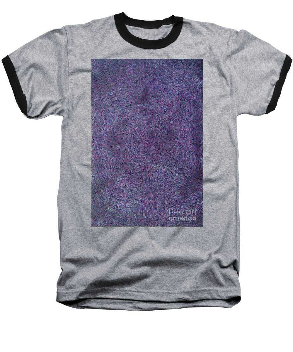 Abstract Baseball T-Shirt featuring the painting Radiation Violet by Dean Triolo