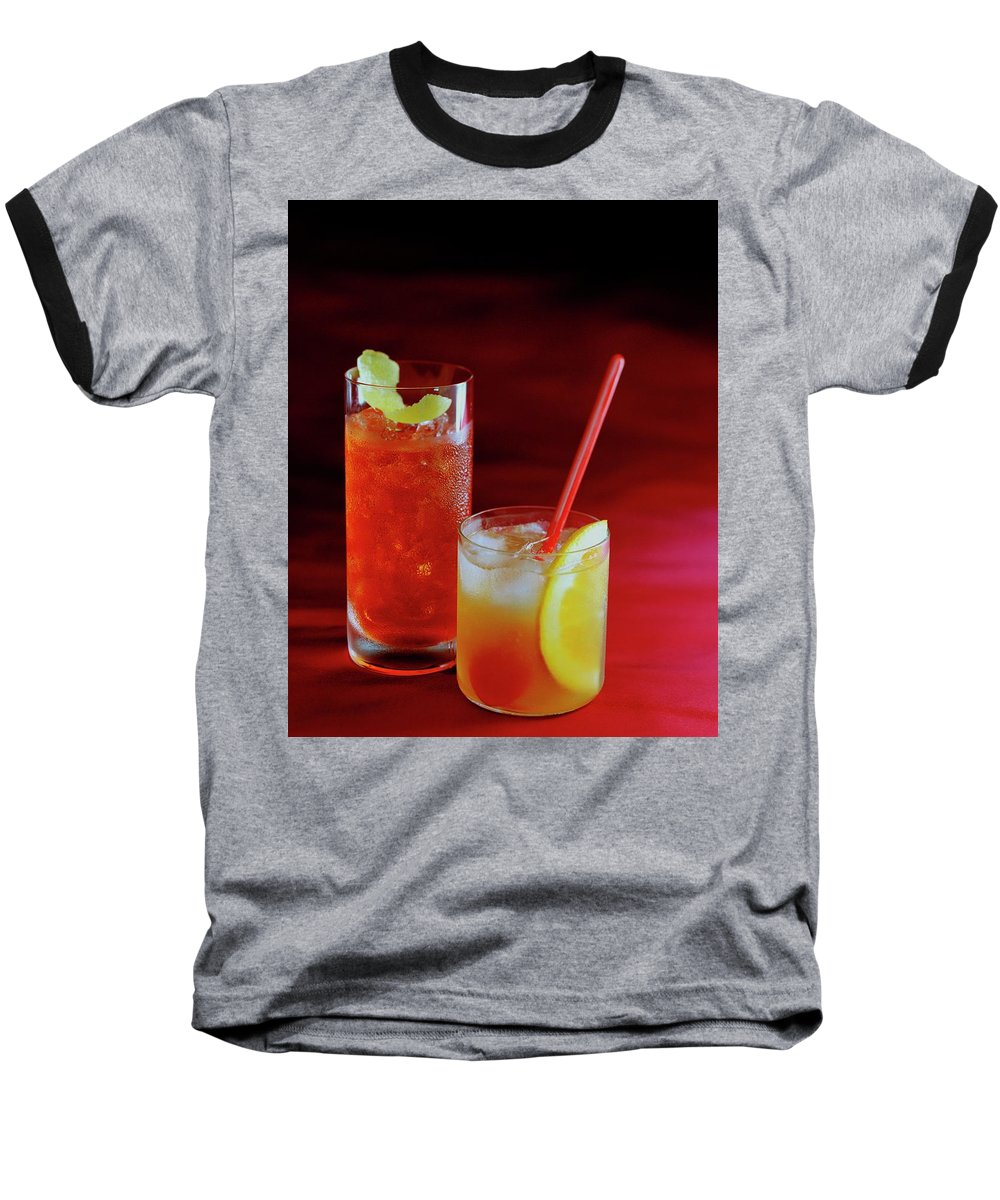 Beverage Baseball T-Shirt featuring the photograph Red Rocktails by Romulo Yanes