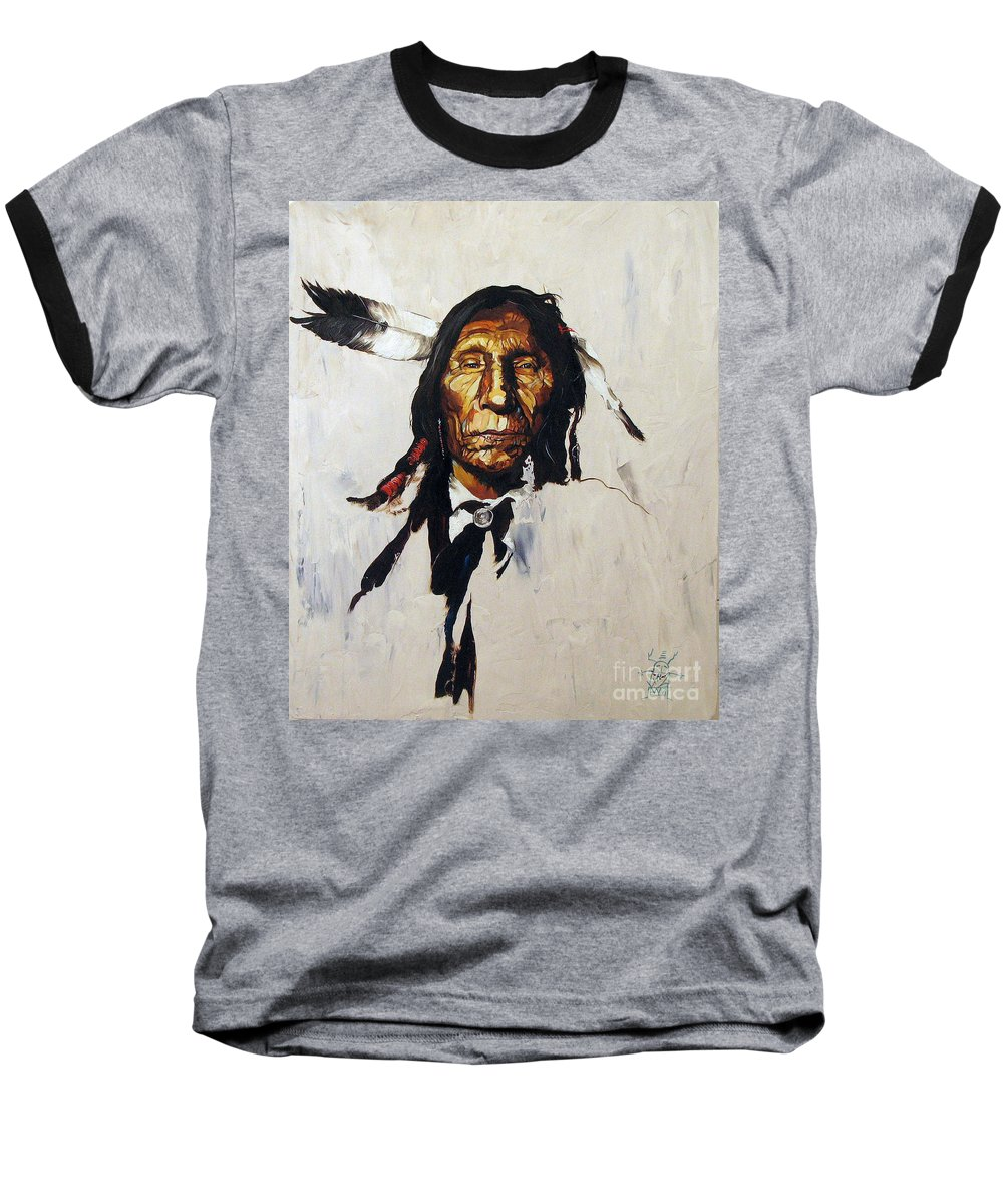 Southwest Art Baseball T-Shirt featuring the painting Remember by J W Baker
