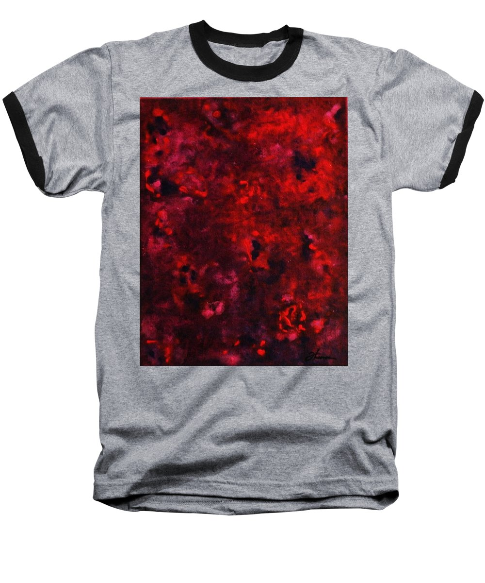 Acrylic Baseball T-Shirt featuring the painting Remembrance by Todd Hoover