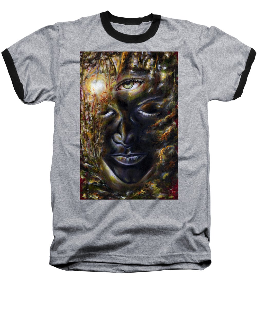 Eye Baseball T-Shirt featuring the painting Revelation by Hiroko Sakai