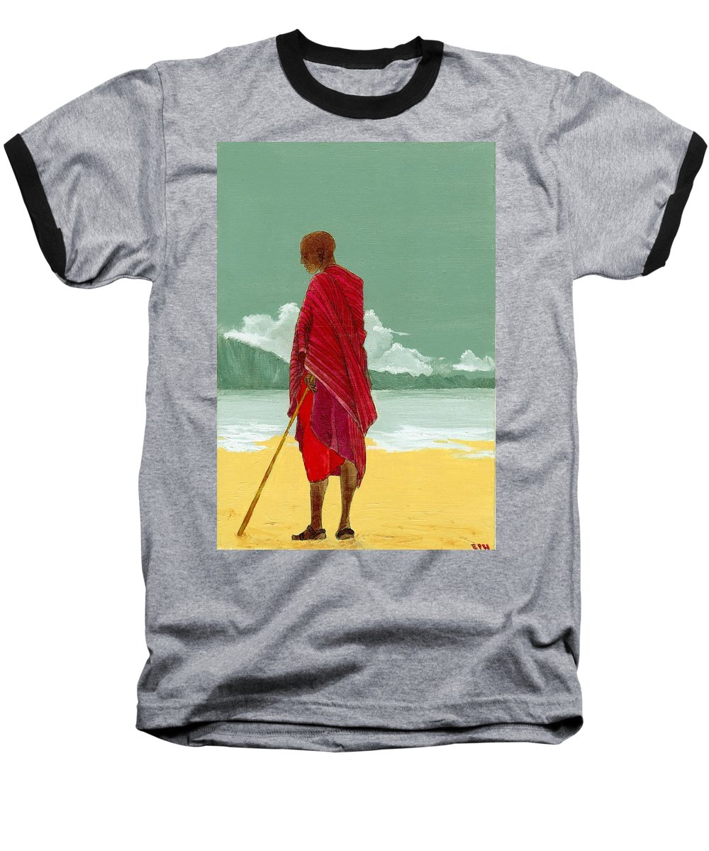 Figurative Painting Baseball T-Shirt featuring the painting Reverence by Edith Peterson-Watson