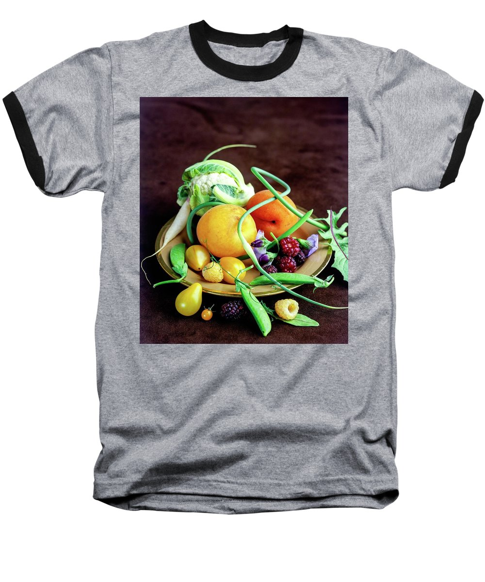 Fruits Baseball T-Shirt featuring the photograph Seasonal Fruit And Vegetables by Romulo Yanes