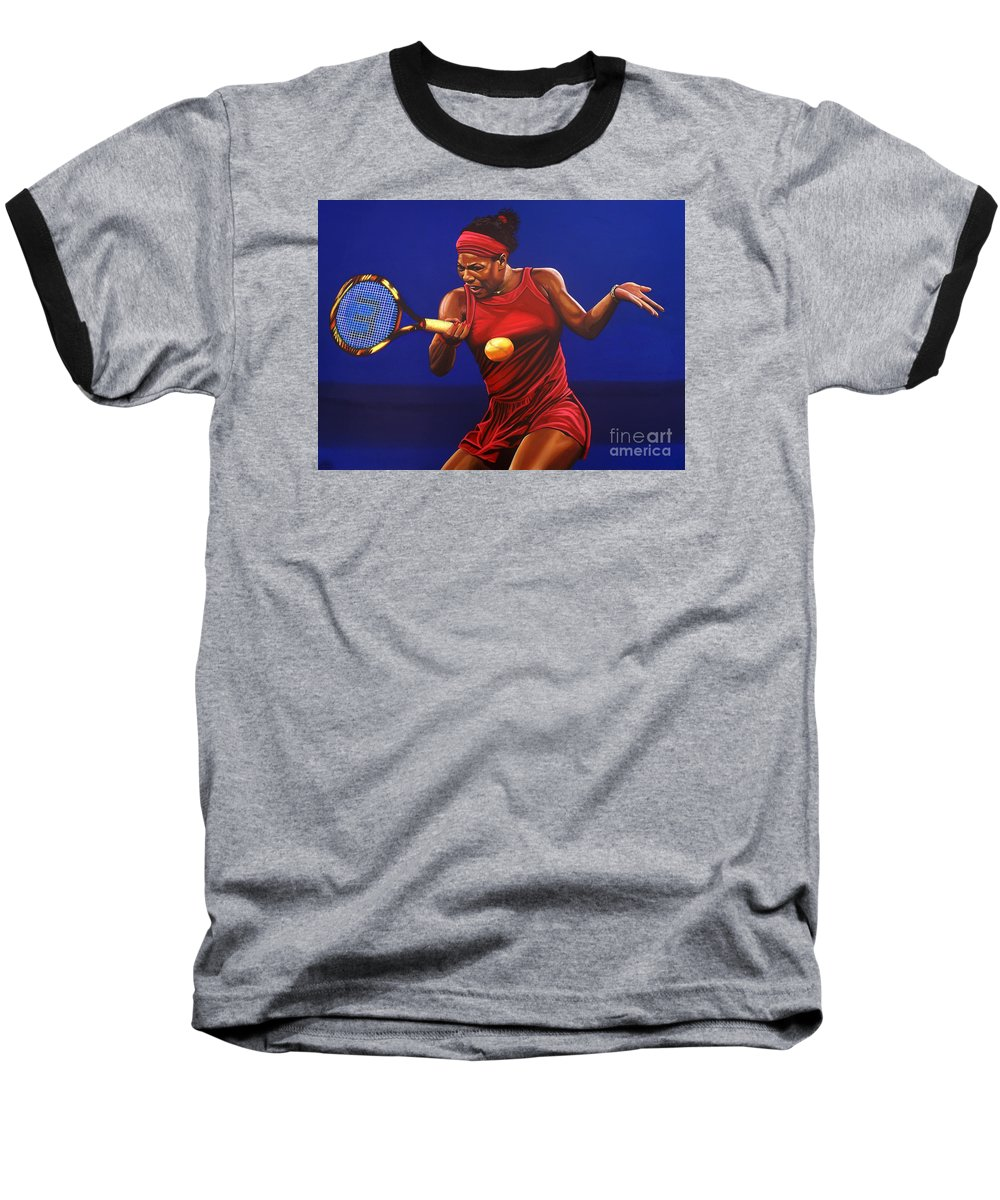 Serena Williams Baseball T-Shirts