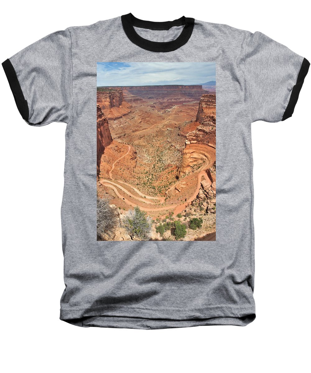 3scape Photos Baseball T-Shirt featuring the photograph Shafer Trail by Adam Romanowicz