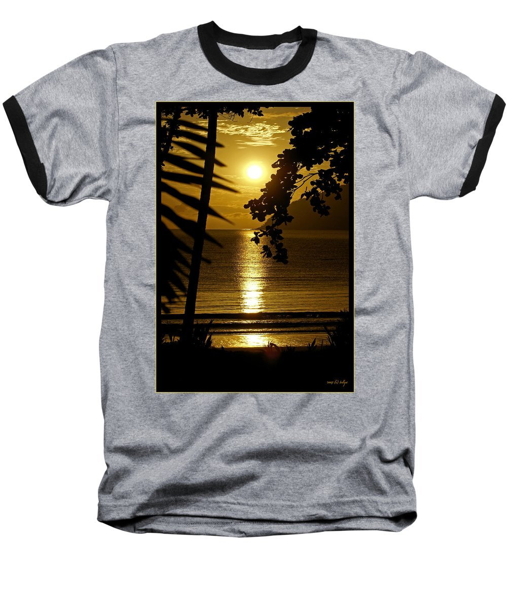 Landscapes Baseball T-Shirt featuring the photograph Shimmer by Holly Kempe